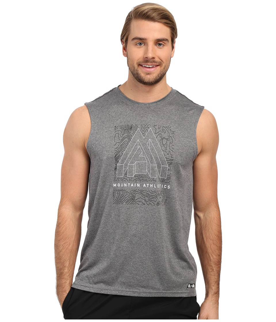 The North Face Graphic Reaxion Ampere Sleeveless TNF Medium Grey Heather Mens Sleeveless