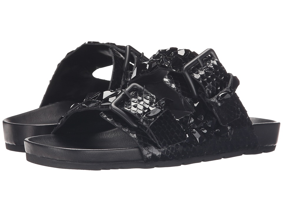 Kennel amp Schmenger Love Double Buckle Sandal Black Womens Sandals