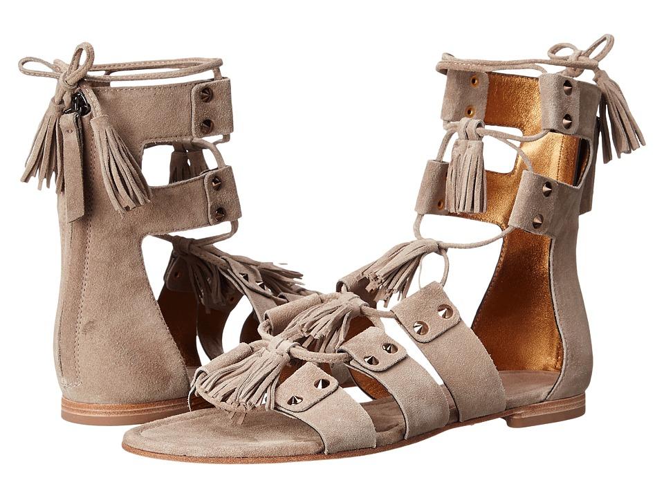 Kennel amp Schmenger Elle Lace Front Sandal Sand Suede Womens Sandals