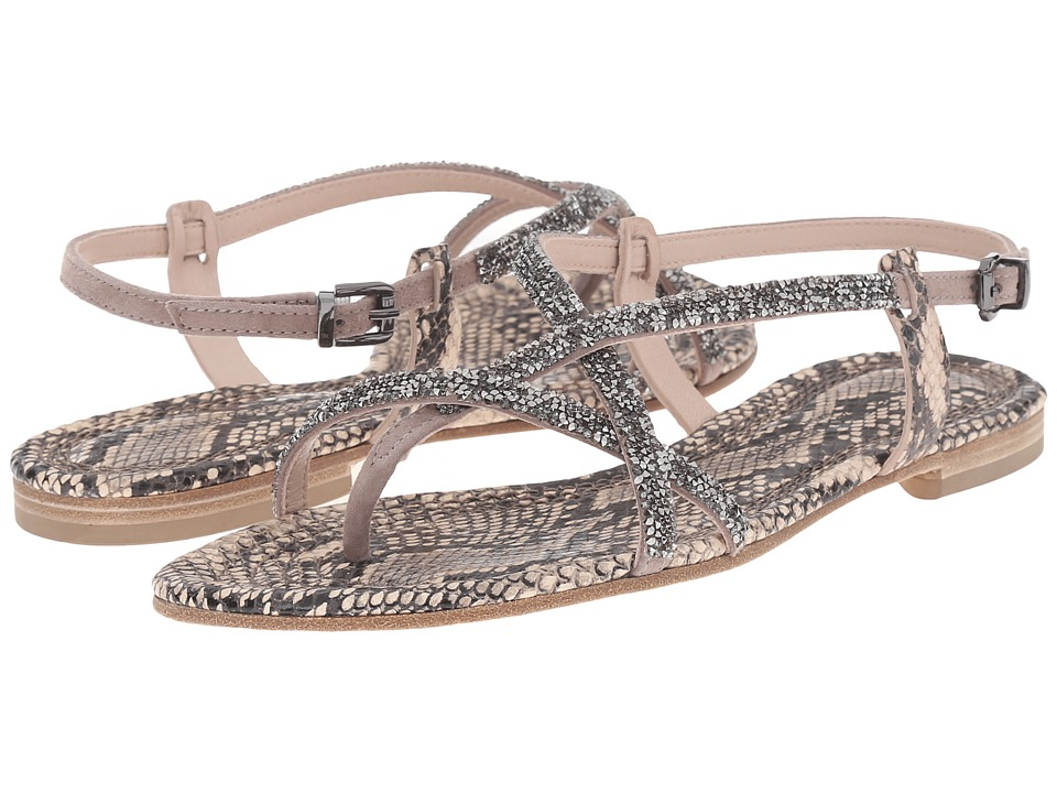 Kennel amp Schmenger Elle Snake Print Sandal Powder/Rose Gold Womens Sandals