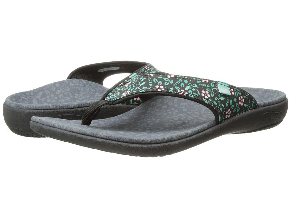 Spenco - Yumi Bloom (Black) Women's Sandals