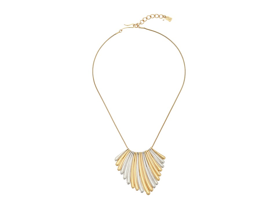 Robert Lee Morris Two Tone Sunray Frontal Necklace Two Tone Necklace