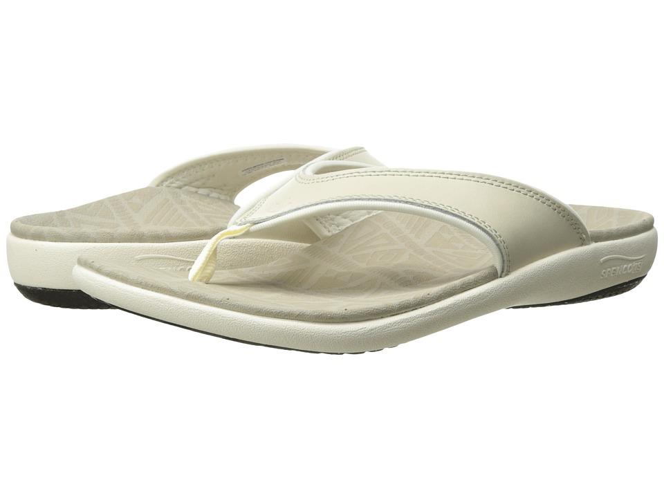 Spenco Yumi Tribal Elite (Oyster Grey) Sandals
