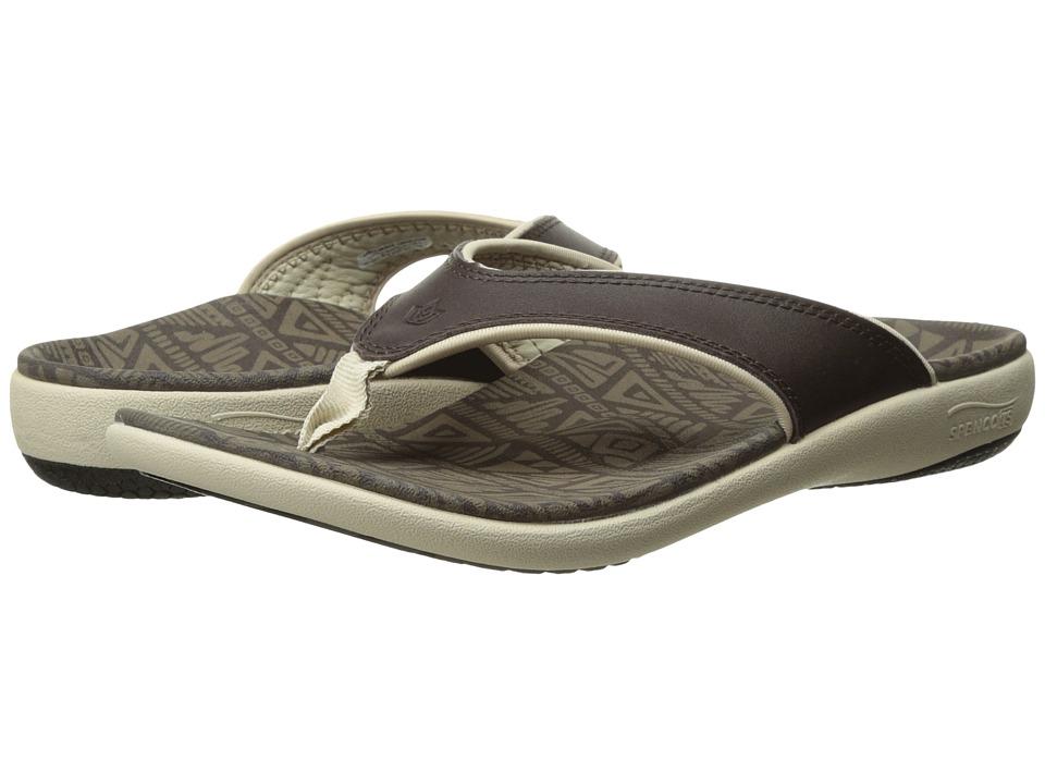 Spenco Yumi Tribal Elite (Coffee Bean) Women's Sandals