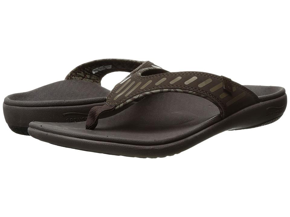 Spenco Yumi Tribal (Coffee Bean) Men's Sandals