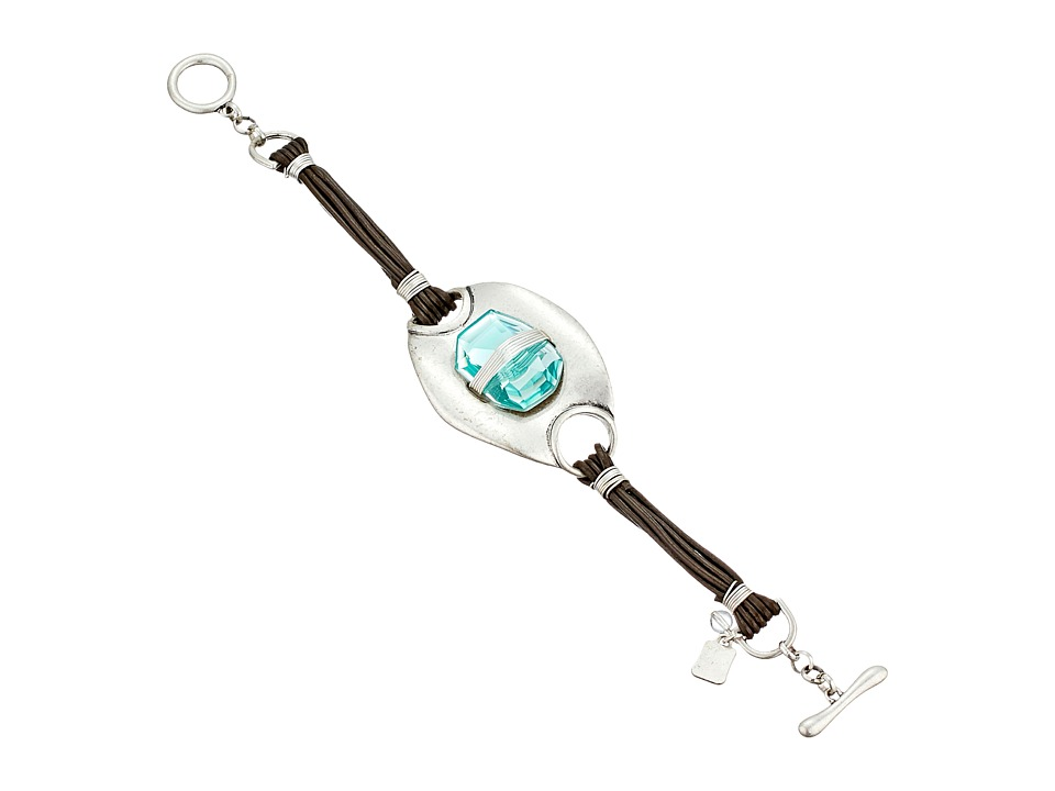 Robert Lee Morris Aqua Stone Leather Bracelet Aqua Bracelet