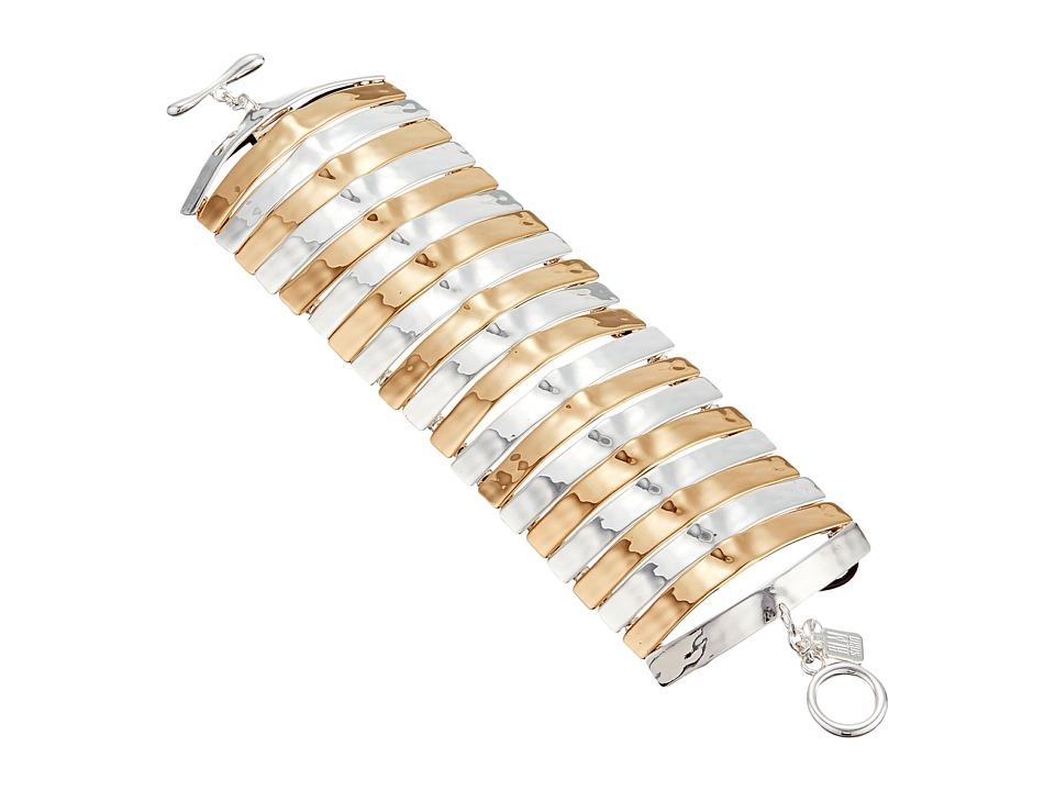 Robert Lee Morris Two Tone Wide Flex Bracelet Two Tone Bracelet