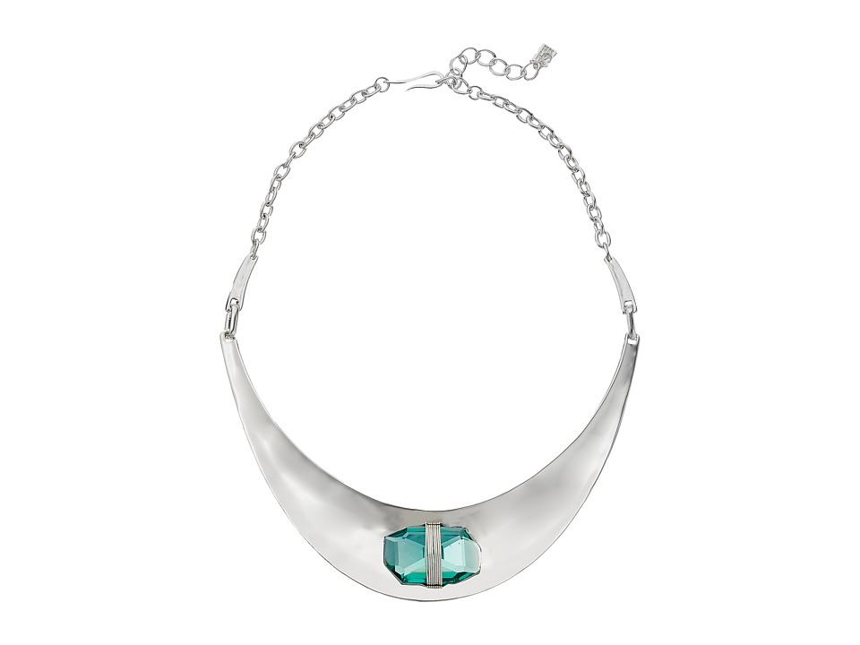 Robert Lee Morris Aqua Smile Frontal Necklace Aqua Necklace