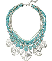 Lucky Brand - Turquoise and Openwork Bib Necklace