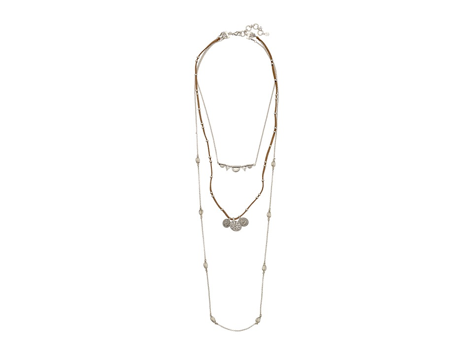 Lucky Brand Lucky Layer Bali Necklace Silver Necklace