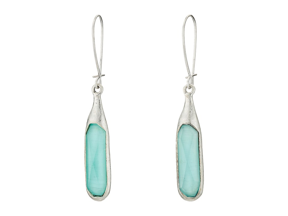 Robert Lee Morris Aqua Stone Shepherd Hook Earrings Aqua Earring