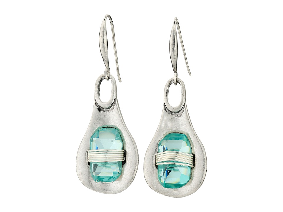 Robert Lee Morris Aqua Wire Wrap Drop Earrings Aqua Earring