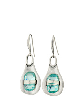 Robert Lee Morris - Aqua Wire Wrap Drop Earrings