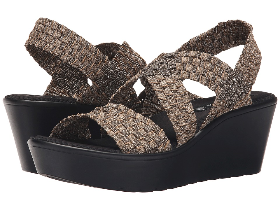 Steven Biata Bronze Womens Wedge Shoes