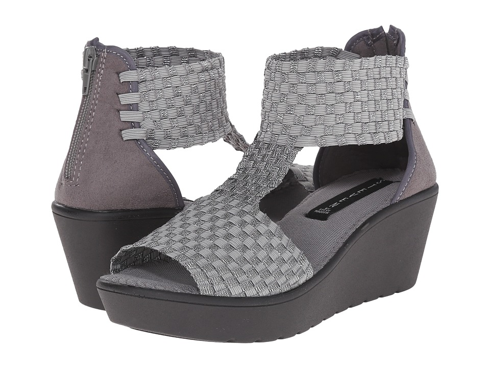 Steven Bengle Pewter Multi Womens Wedge Shoes