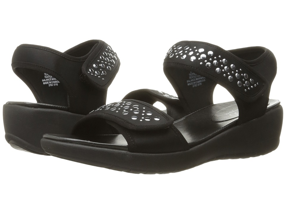 Easy Spirit Willows 2 Black/Black Fabric Womens Shoes