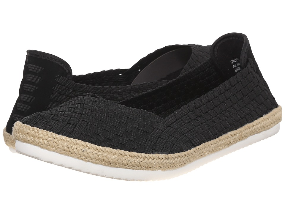 Steven Caliee Black Womens Slip on Shoes