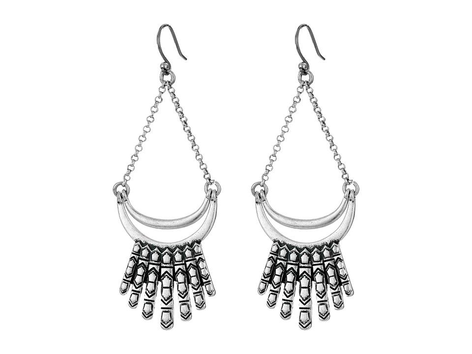 Lucky Brand Fringe Drop Earrings Silver Earring