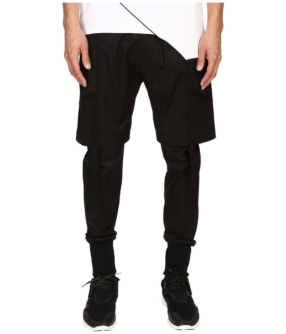 Pyer Moss Strapped Double Layer Trousers Black Mens Casual Pants