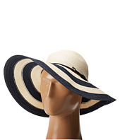 COACH - Stripe City Straw Floppy Hat