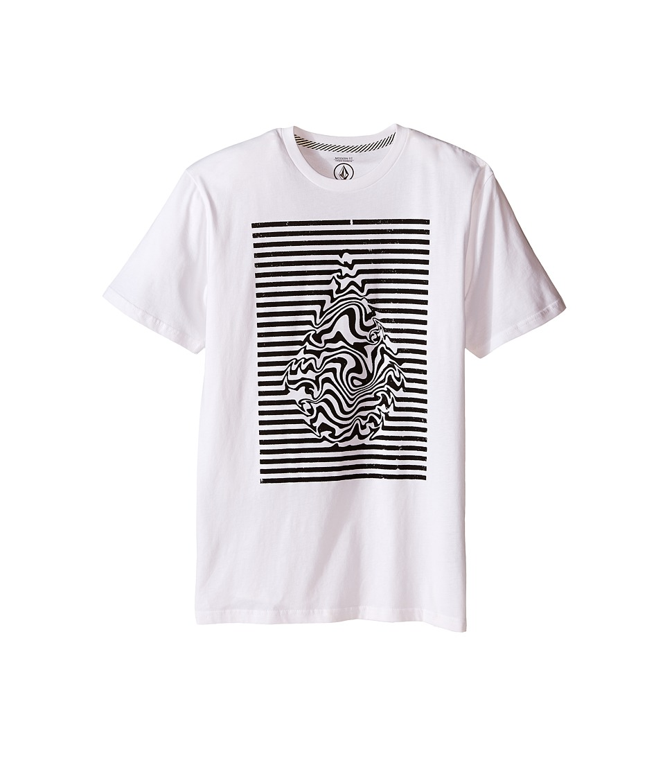 Volcom Kids - Stone Trip Short Sleeve Tee (Big Kids) (White) Boy