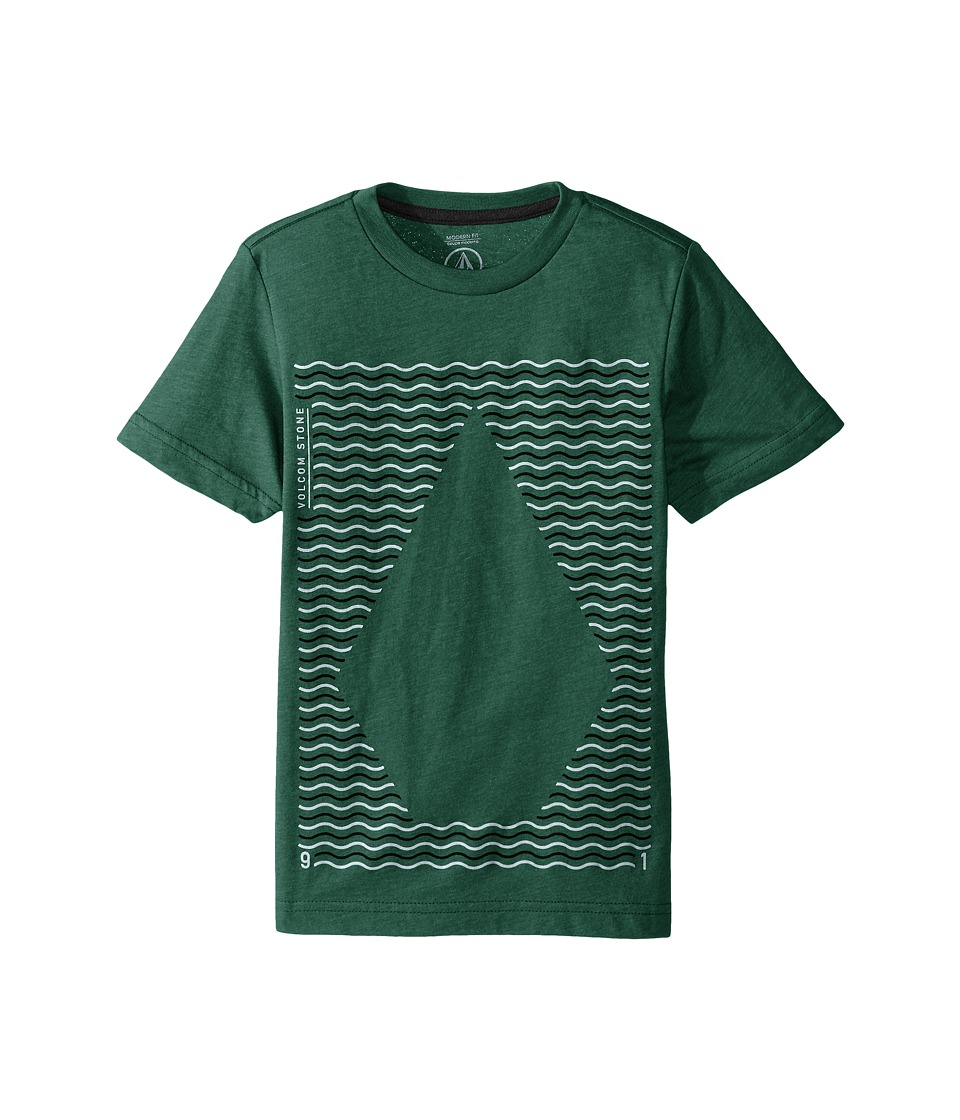 Volcom Kids - Waves Short Sleeve Tee (Big Kids) (Bottle Green Heather) Boy