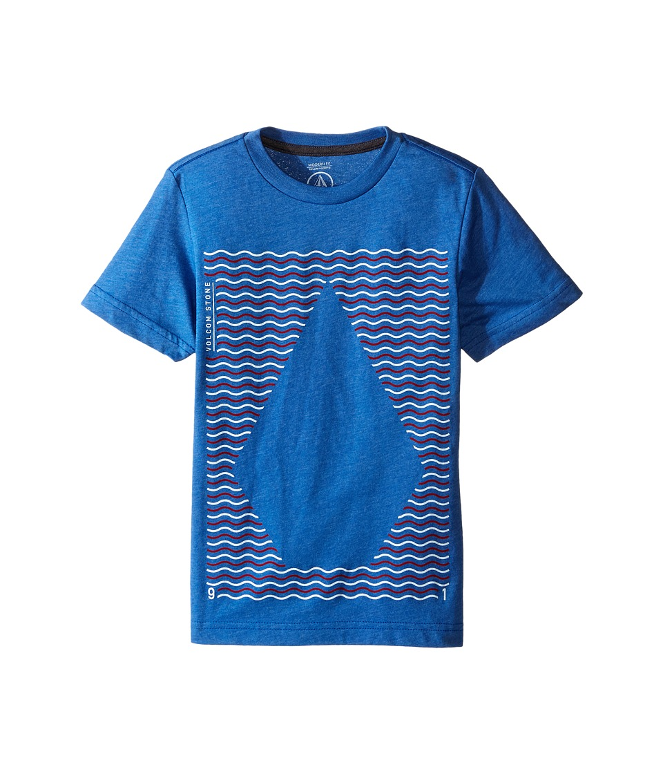Volcom Kids - Waves Short Sleeve Tee (Big Kids) (Estate Blue Heather) Boy