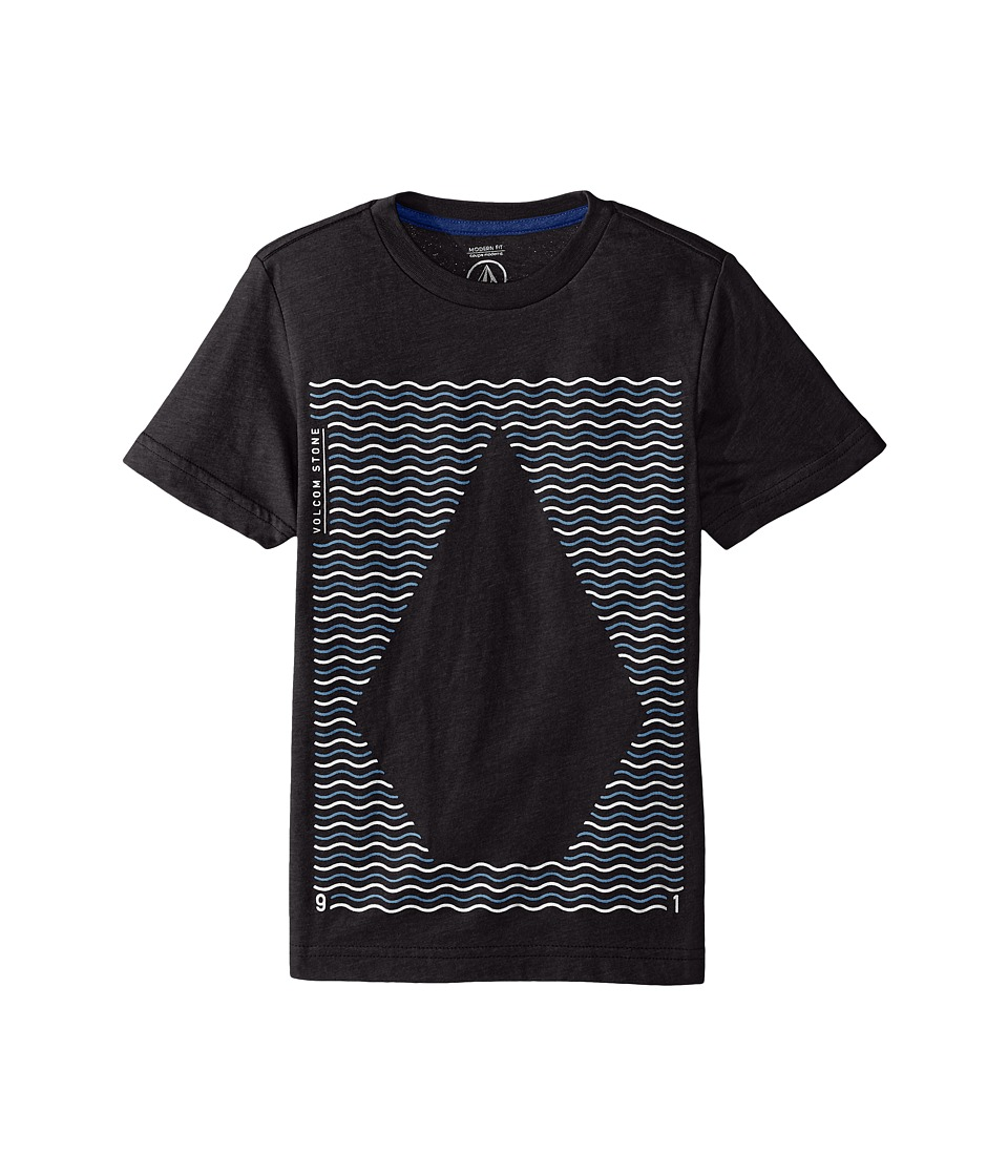 Volcom Kids - Waves Short Sleeve Tee (Big Kids) (Heather Black) Boy