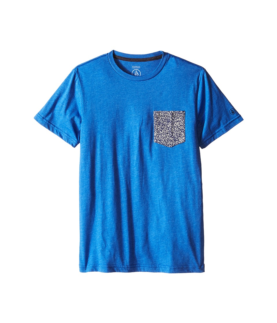 Volcom Kids - Mixed Pocket Short Sleeve Tee (Big Kids) (Estate Blue) Boy