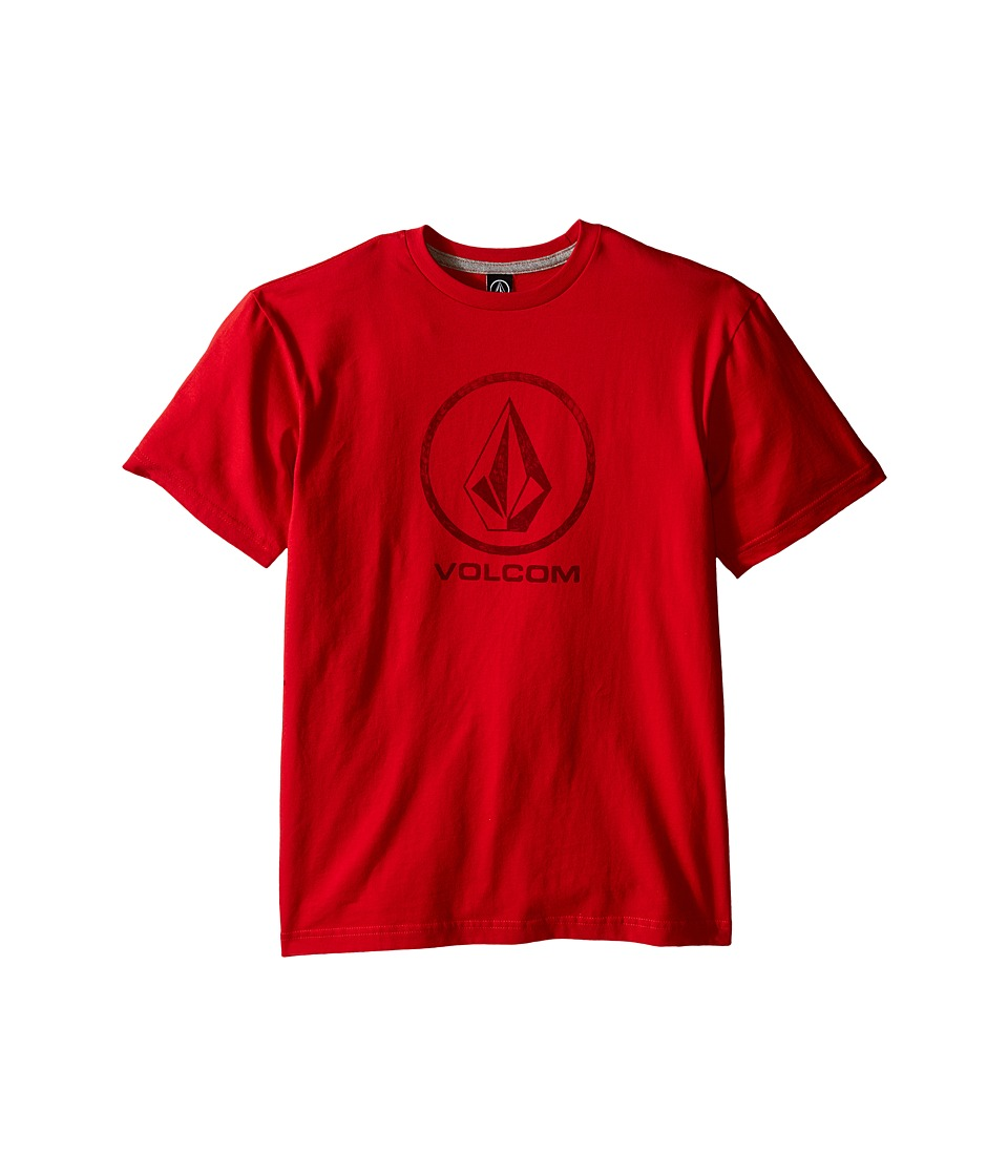 Volcom Kids - Fade Stone Short Sleeve Shirt (Big Kids) (Candy Apple) Boy