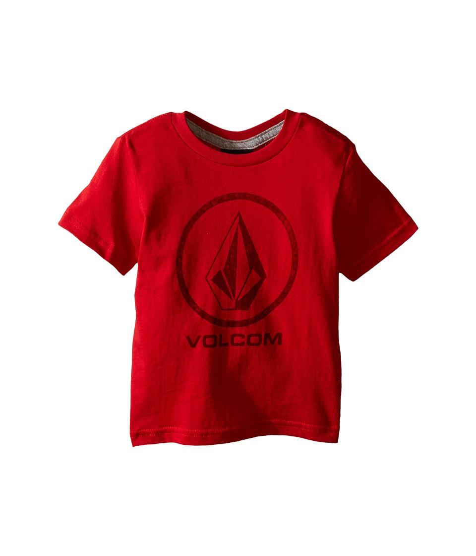 Volcom Kids Fade Stone Short Sleeve Shirt Toddler/Little Kids Candy Apple Boys T Shirt
