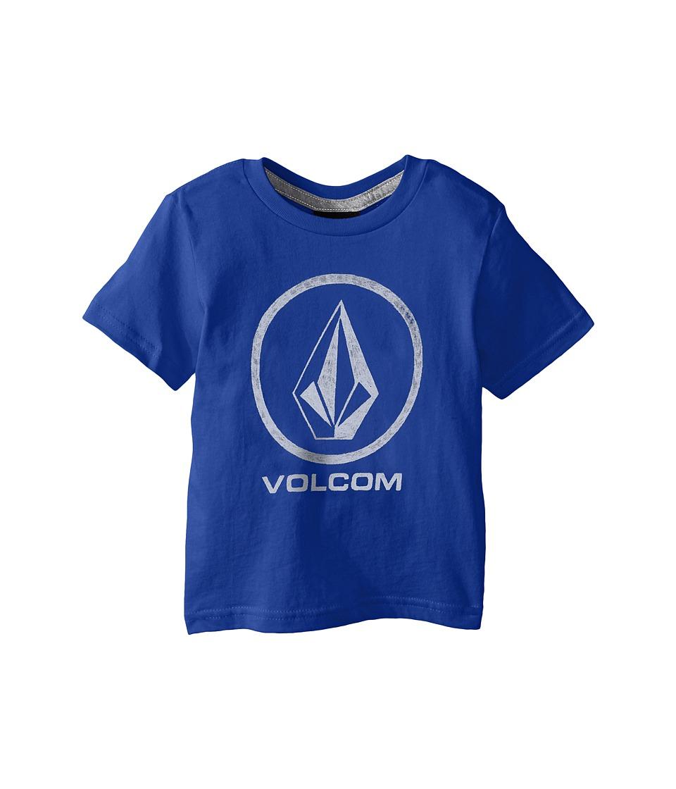 Volcom Kids Fade Stone Short Sleeve Shirt Toddler/Little Kids Estate Blue Boys T Shirt