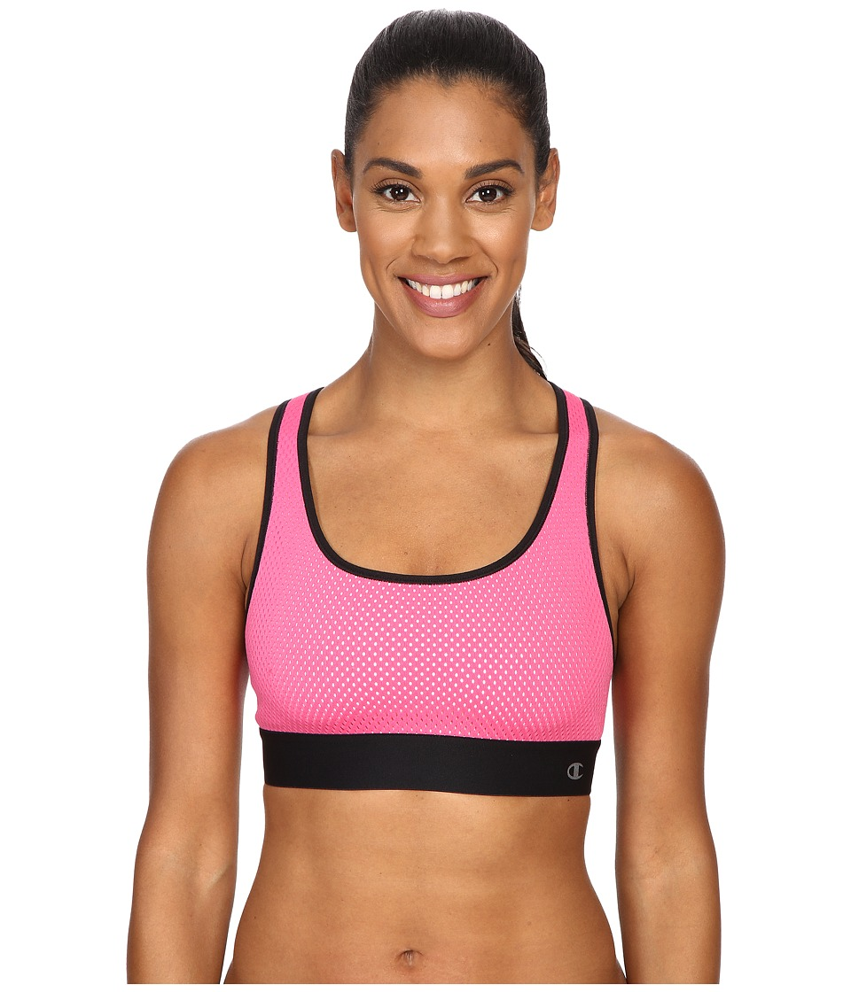 Champion Mesh Freedom Racerback Pinksicle/Black Womens Workout