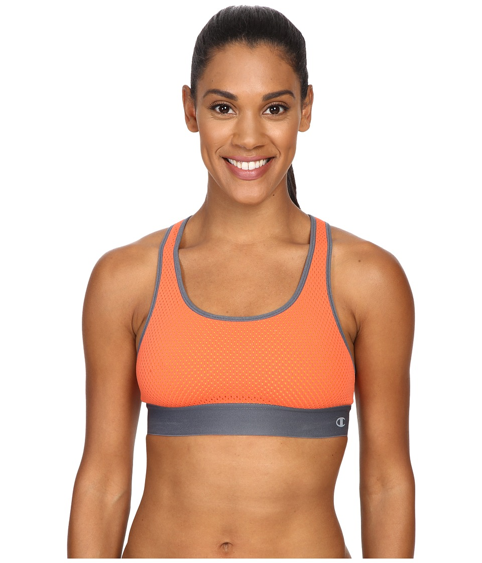 Champion Mesh Freedom Racerback Scuba Orange/Medium Grey Womens Workout