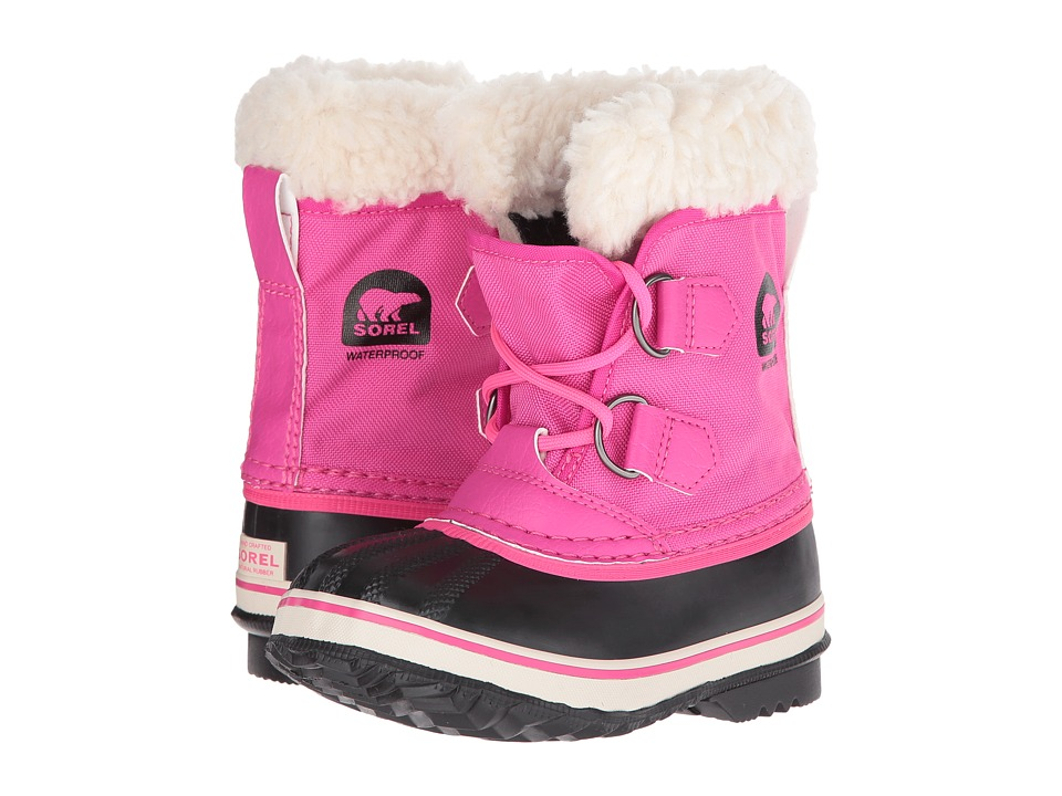 SOREL Kids Yoot Pac Nylon (Toddler/Little Kid) (Haute Pink) Girls Shoes