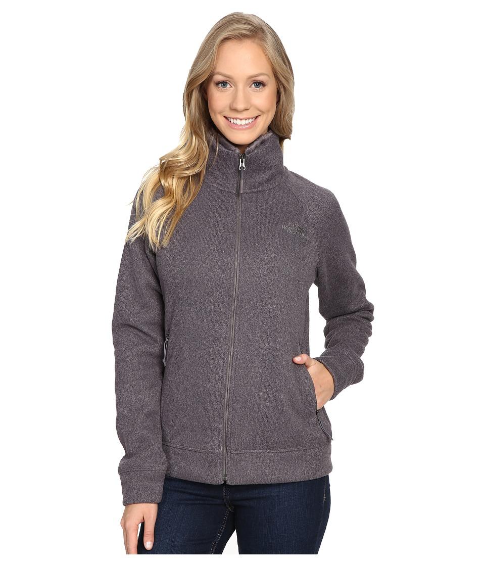 The North Face Crescent Raschel Full Zip Jacket (Rabbit Grey Heather) Women