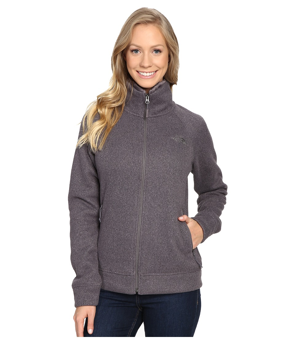 The North Face Crescent Raschel Full Zip Jacket (Rabbit Grey Heather (Prior Season)) Women