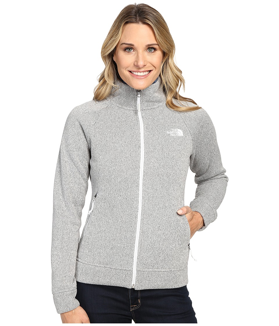 The North Face Crescent Raschel Full Zip Jacket (Lunar Ice Grey Heather) Women