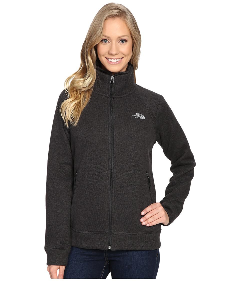The North Face Crescent Raschel Full Zip Jacket (TNF Black Heather) Women