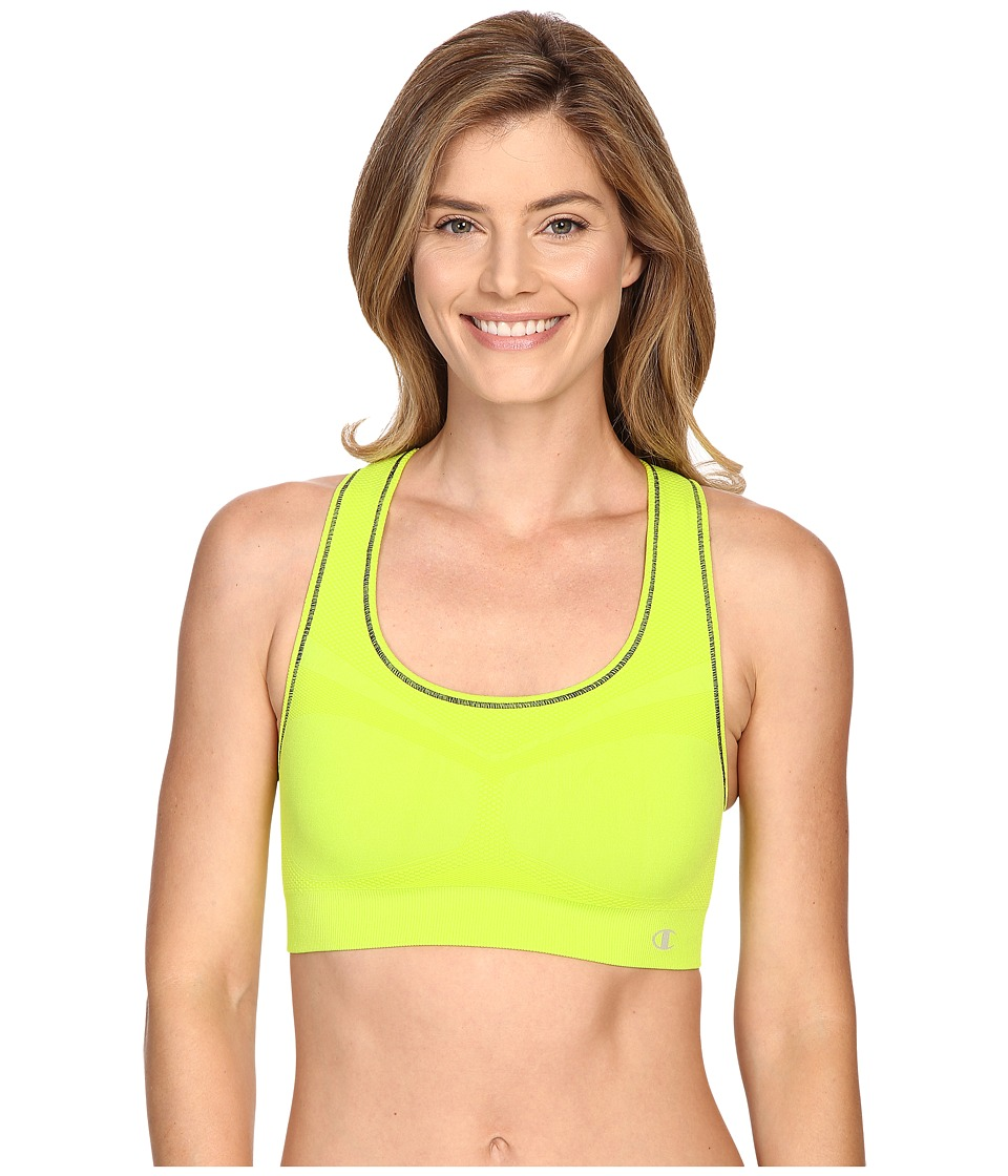 Champion Double Dry Seamless Racer Back Sports Bra Sweet Green Womens Bra