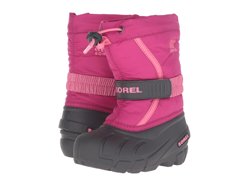 SOREL Kids Flurry (Toddler/Little Kid/Big Kid) (Deep Blush/Tropic Pink) Girls Shoes