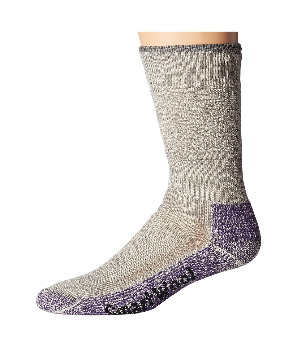Smartwool - Mountaineering Extra Heavy Crew (Medium Grey/Mountain Purple) Womens Crew Cut Socks Shoes