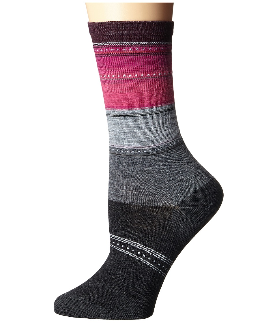 Smartwool - Sulawesi Stripe (Medium Gray Heather/Light Gray Heather) Womens Crew Cut Socks Shoes