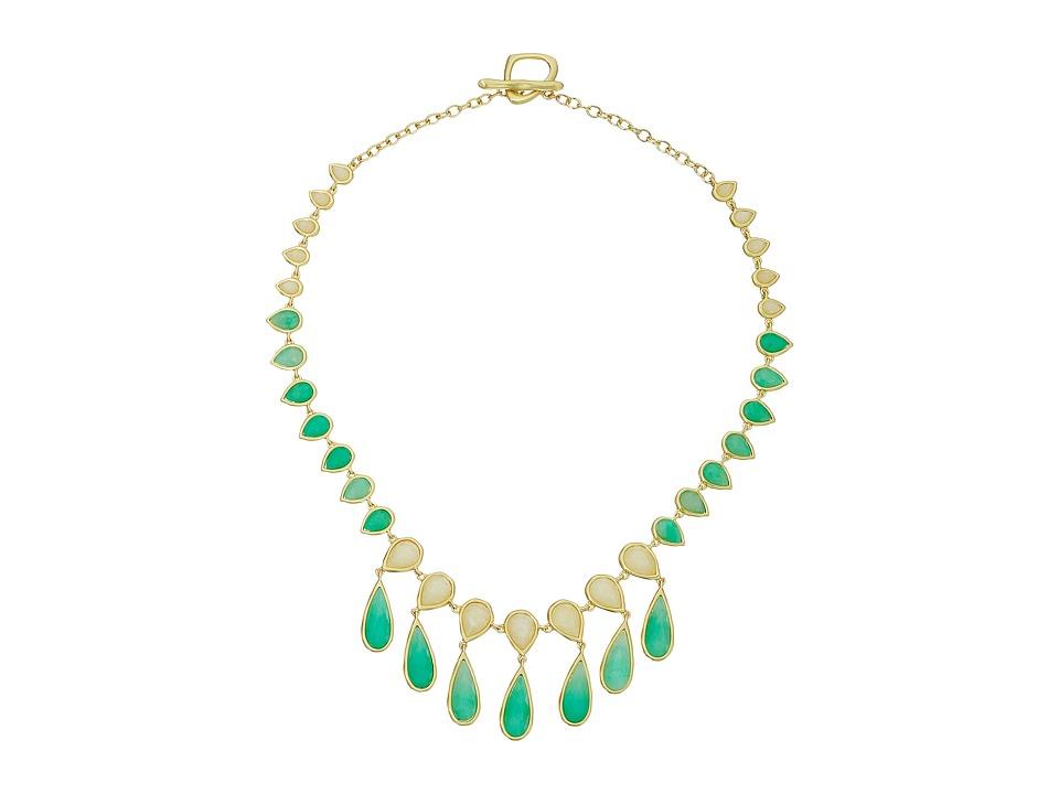 Karen Kane Sky and Sea Teardrop Statement Collar Necklace Green Necklace