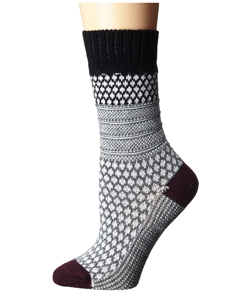 Smartwool - Popcorn Cable (Black) Womens Crew Cut Socks Shoes
