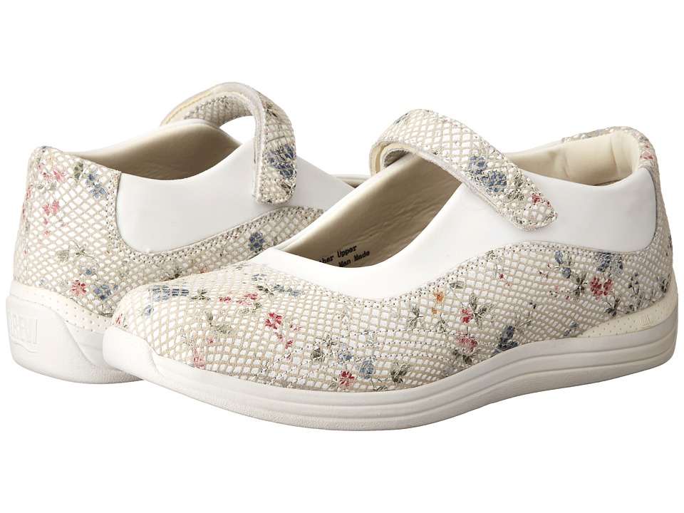 Drew Rose (White Floral Snake Print Leather) Women's Shoes