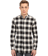 Naked & Famous - Long Fit Herringbone Ombre Check Shirt