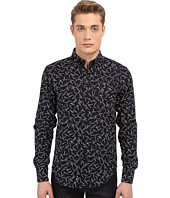Naked & Famous - Regular Kimono Pine Needles Print Shirt