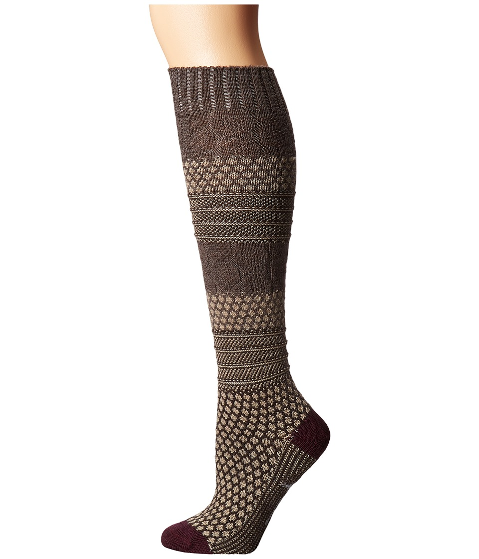 1920s-1950s New Vintage Men's Socks Smartwool - Popcorn Cable Knee Highs Oatmeal Heather Womens Knee High Socks Shoes $29.95 AT vintagedancer.com