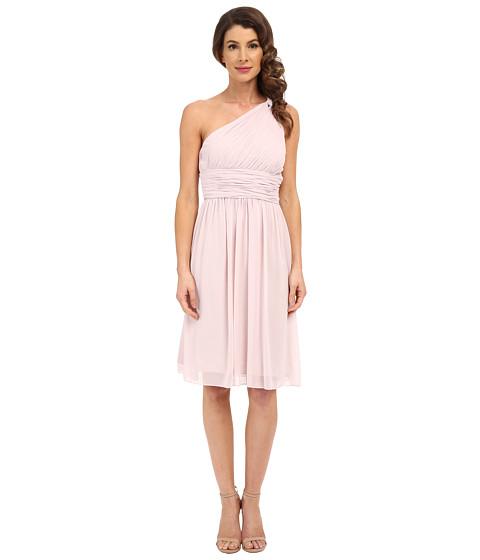 Donna Morgan Rhea One Shoulder Dress - Palest Pink
